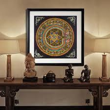 Nepal Buddhist Shrine Mandala Faith Buddha Oil Canvas Art Painting Wall Tibet Thangka Art Painting Printed Home Decor Decorative Painting Folk Art Decorpainting Logo Aliexpress