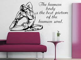 Wall Decals Quote The Human Body Decal Fitness Vinyl Sticker Gymnasium Wall Decals Quotes Vinyl Stickerswall Decals Aliexpress