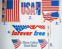 Vintage American Flag Sticker Etsy