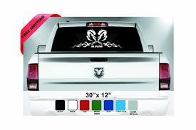 Dodge Ram Emblem Decal Rear Window Sticker Dodge Ram Tribal Etsy