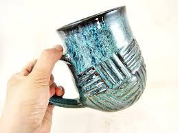 24 oz pottery mug handmade ceramic
