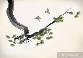 tree painting wall mural pixers we