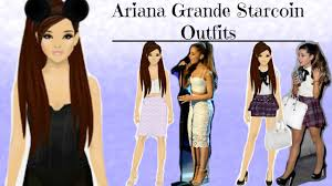 stardoll ariana grande looks outfits in