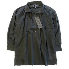 NILI LOTAN Womens Myra Long Sleeve Pleated Tunic Top Shirt Black XS (MSRP  $295) 842222163923 | eBay
