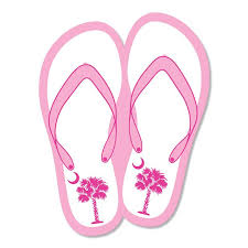 Mini Palm Flip Flop Decal Palmetto Moon