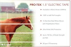 Ramm Pro Tek 1 5 Electric Tape Horse Fence Horseproperty