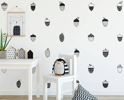 Acorn Wall Decals Woodland Nursery Decor Kids Room Wall Etsy