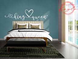 King Queen Bedroom Wall Decal Kustoms By Kayla