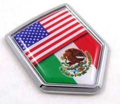 Usa Mexico American Mexican Flag Car Chrome Emblem Decal 3d Sticker Wi Car Chrome Decals