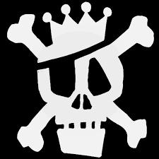 Stussy Skull Rough Skateboard Decal Sticker