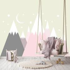 Shop Pink Mountain Wall Decal Baby Girl Bedroom Overstock 32125804