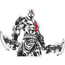 God Of War Game Character Kratos 20in X 15in Vinyl Car Sticker Decal Ebay