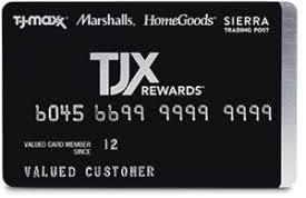tjx rewards credit card info