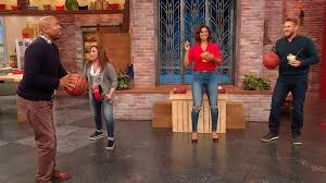 Kenny and Gwendolyn Smith Shoot Some Hoops In Our Studio | Rachael ...