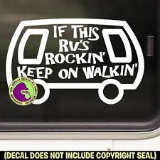 Rv Rockin Funny Vinyl Decal Sticker Gorilla Decals