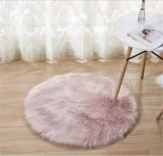 Luxury Faux Fur Rug Carpet 2 Round Pink Home Decor Kids Bedroom Living Room 6438095003066 Ebay