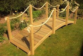 Rope Bridge Range Crafted Rope Rail Wooden Bridges Best Deals On Garden Bridges From Garden Bridge Uk