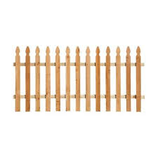 Paintable 8 Wood Fence Panels Wood Fencing The Home Depot