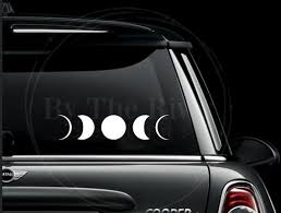 Moon Phases Decal Etsy