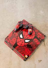 Customize Your Gaming Console With Official Marvel Designs Explore Dc Comics Spiderman Ps4 Slim Skins Spiderman Marvel Collectibles Pikachu Wallpaper Iphone