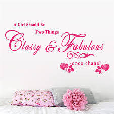 A Girl Should Be Two Things Classy And Fabulous Quotes Wall Stickers For Kids Girls Room Decorations Home Vinyl Diy Mural Decals Wall Stickers For Kids Wall Stickerstickers For Aliexpress
