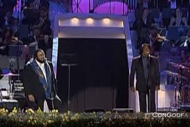 Luciano Pavarotti and James Brown - 'It's A Man's World'