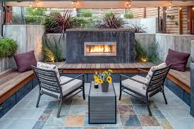 gas furniture patio fireplace built in