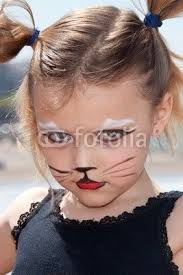 little with kitty cat make up by