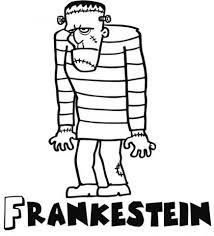 Dibujos de monstruos para niños. Frankenstein para pintar