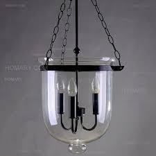 clear glass bell jar pendant light