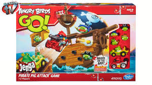 Angry Birds GO! Jenga Pirate Pig Attack Toy Review, Hasbro - YouTube