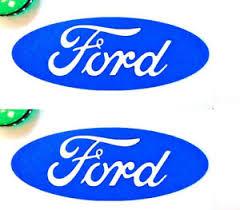 2 Ford Decal Sticker Oval Logo Emblem 7 Yr Warranty Blue Or Red Car Truck Ebay