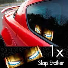 Buy Tony Stark Eyes Industries Comic Printed Box Slap Bumper Car Vinyl Sticker