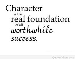 success and character educational quote