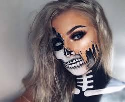 pretty half skeleton makeup saubhaya