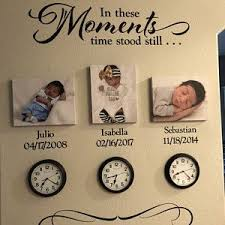 A Moment In Time Changed Forever Photo Picture Wall Vinyl Wall Decal Sticker Lettering With Names And Dates Custom Hh2147 Wall Decals Laundry In This Moment Picture Wall