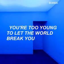 bangtansonyeondan bts quote blue aesthetic