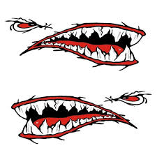 2x Vinyl Shark Mouth Teeth Decal Sticker Kayak Canoe Boat Car Funny Graphics Archives Statelegals Staradvertiser Com