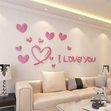 love is full of acrylic d living room bedroom entrance wall paste