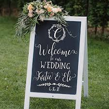 Amazon Com Custom Monogrammed Welcome To Our Wedding Decal Sticker For Ceremony Sign Handmade