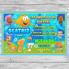 Gratis Bubble Guppies Invitacion De Cumpleanos Para Imprimir