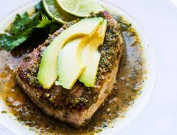 Seared Tuna with Avocado Recipe ...