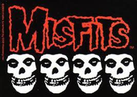 Misfits Four Skulls Logo Sticker