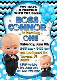Boss Baby Invitation Boss Baby Birthday Invitation Boss Baby
