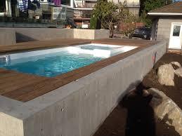 fibreglass plunge pool swim spa spa