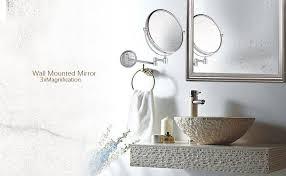 wall mounted chrome finished bathroom