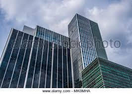 glass office buildings stock photo