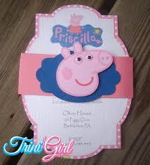 Peppa Pig Inspired Invitation Fiesta De Cumpleanos De Peppa Pig