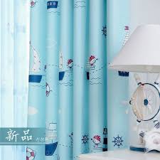 Cartoon Blackout Window Curtains For Children Room Baby Thick Curtain Fabrics Blue Boys Drapes Kids Room Pirat Curtains Living Room Curtains Insulated Curtains