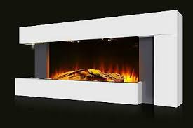 led modern fireplace electric heater